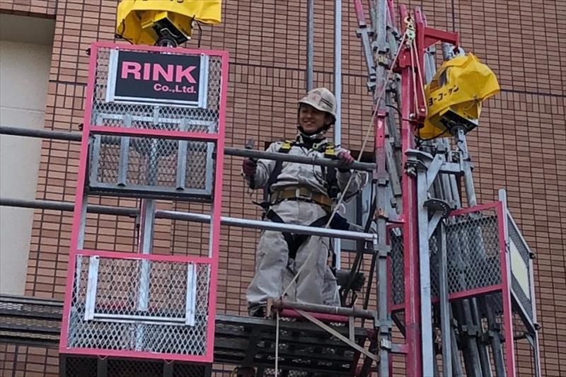 ㈱RINKは愛媛県を中心に足場工事を請け負っております。